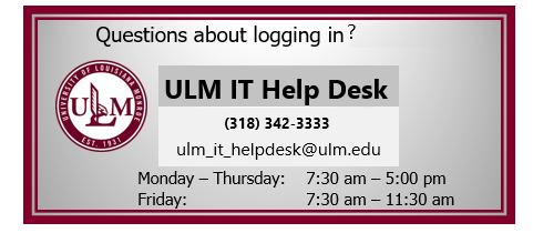 IT Help Desk Contact Info for login troubles